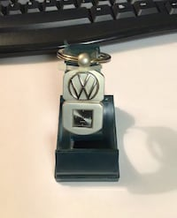 VW key ring with a watch.