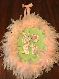 pink feather wreath Russellville, 35653