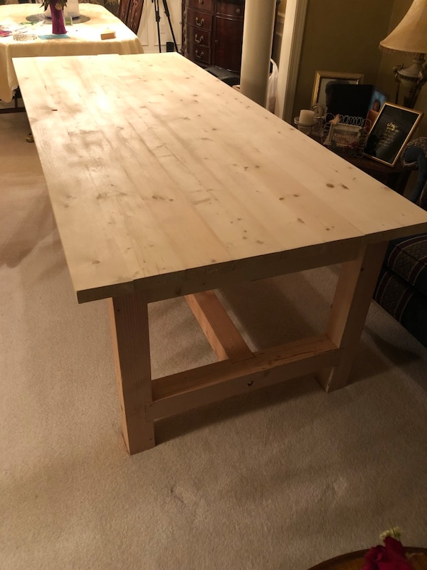 Tremendous Farmhouse Table Unfinished Or Finished Interior Design Ideas Skatsoteloinfo