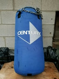 blue and white Century heavy bag 541 km