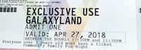 Exclusive use Galaxyland ticket Spruce Grove, T7X 0V7