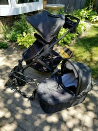 black and gray stroller and car seat carrier Barrie, L4N 5E5