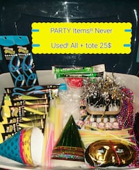 PARTY ITEMS! never used + tote with top to transpo Des Moines, 50315