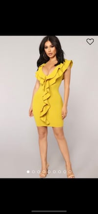 BRAND NEW - Yellow Party Dress - Size XL fits L Waterloo