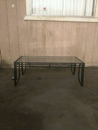 Black metal framed glass table  Fresno, 93706