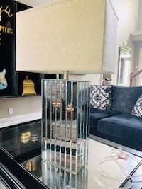 Mirrored table lamp oversized