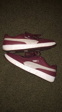 Pair of red-and-white Puma low tops SIZE 10 Los Angeles, 90011