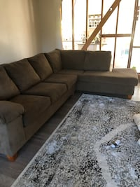 Brown fabric sectional couch 10ftx3ft Thousand Oaks, 91360