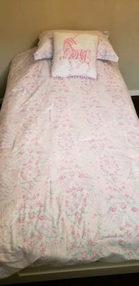 Frame and mattress bed twin size