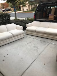 White love seat and sofa Moreno Valley, 92555