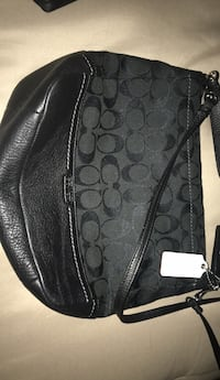 black monogrammed Coach leather hobo bag Edmonton, T5Y 3R7