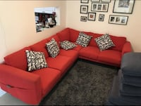SECTIONAL RED SOFA PERFECT CONDITIONS Miami, 33174