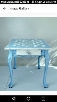 table with checkerboard on top FIRM PRICE
