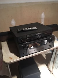55 in tv blue ray. DVD player sound bar cabinet underneath. Moved doesn't fit Shelton, 06484