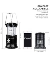 Brand New 2 pack LED CAMPING LANTERN ULTRA BRIGHT COLLAPSIBLE AND COMPACT Edmonton, T6W 2X7