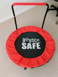 red and black trampoline with enclosure Burnaby, V5H 2K2