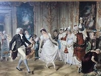 Toby E. Rosenthal (German ,1848-1917) Our Grandmother's Dance Lesson (1013908) South San Francisco