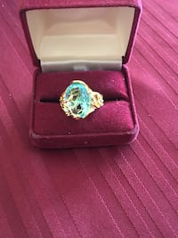18k YELLOW GOLD 12CT BLUE CRYSTAL Hereford, 85615