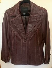 Guess distressed leather ladies jacket sz-L