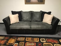 2 Black leather 3-seat sofa 34 mi