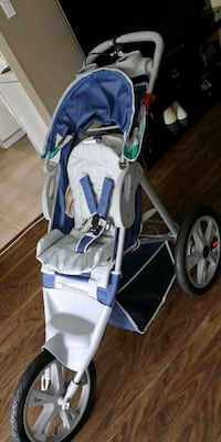 baby's blue and gray stroller Surrey, V3R 1M5