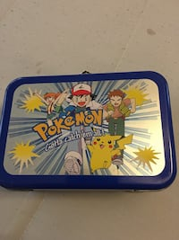 1995 pokémon chip tokens in mint  tin can with 93 token chips