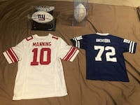 NY Giants memorabilia package 2012 (Super Bowl winners) and 2011 (2 footballs, 2 jerseys) Suffern, 10901