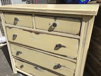 Antique butter yellow  5 drawer dresser Halifax, B3K 2B4