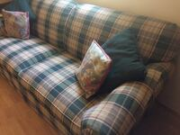 Green plaid fabric loveseat Morgan Hill, 95037