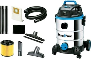 Dura Vac CVQ810SWD Cleaner 30-Litre 8-Gallon 4 HP Stainless Steel Wet