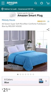 blue and white bed comforter set Greenwood, 46142