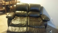MUST GO TONIGHT !Brown leather recliner love seat