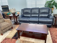 New, Genuine Leather Recliner Couch - Black