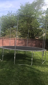 black and gray trampoline with enclosure North Potomac, 20878