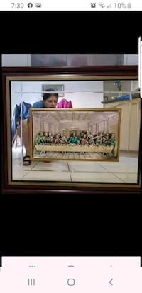Beautiful Last Supper framed 3D Vaughan, L4H 2H2