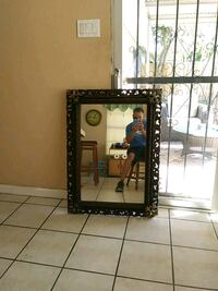 black and brown wooden frame mirror San Antonio, 78216