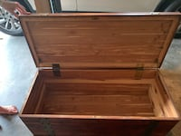 Aged cedar chest.  Potential antique.   Fleetwood, 19522