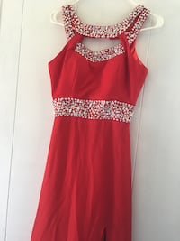 women's red and silver spaghetti strap dress Fort Payne, 35967