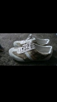 pair of gray-and-white Coach sneakers Las Vegas, 89110