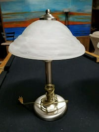 Lamps, 2, glass shades
