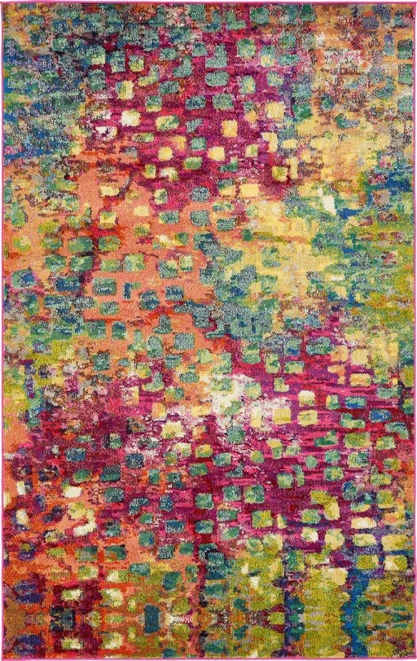 Massaoud Multi-coloured Area Rug 5' by 8' f6ca34e9-4e23-474a-89f4-2acdc8aa436b