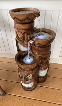 Brand new tiki fountain with LED lights!