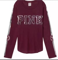 VS Pink bling burgundy tee SZ Large  Picayune, 39466