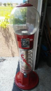 Spiral Gum Ball Machine - Red 5 Foot Tall - Works  Palmetto Bay