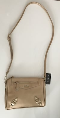 grey Guess leather sling bag