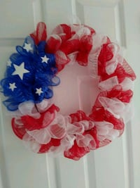 Red white & blue wreath Justice, 60458