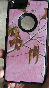 Pink, brown and black iphone case