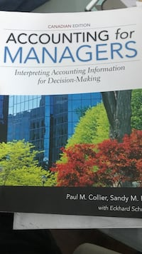 Accounting for Managers Canadian edition by Paul M. Collier book Mississauga, L5A 1J9