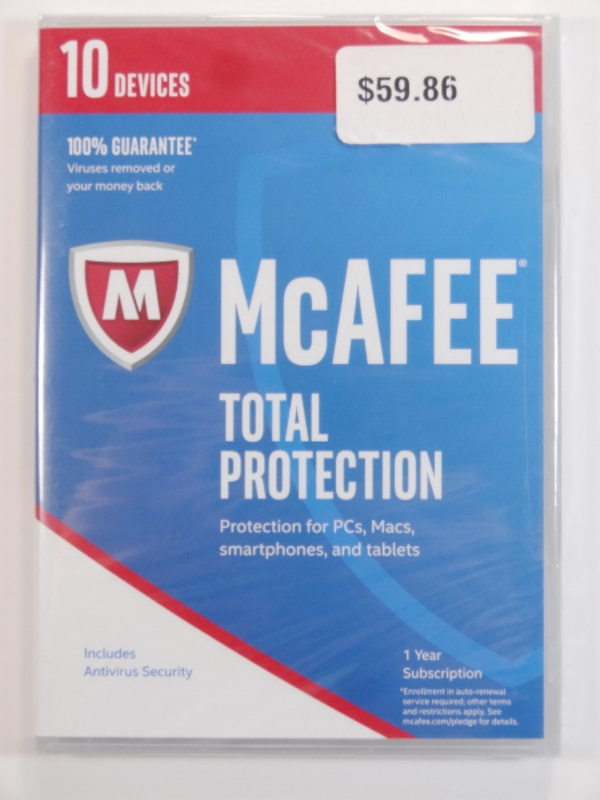 McAFEE TOTAL PROTECTION - 10 Devices! - 2 Years!