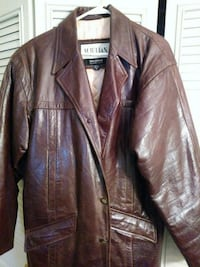 Wilson's Mens Distressed Brown Leather Coat